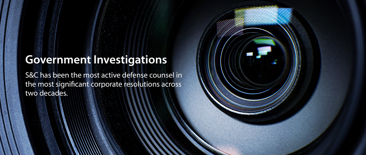 Practice Highlight: Criminal Defense and Investigations
