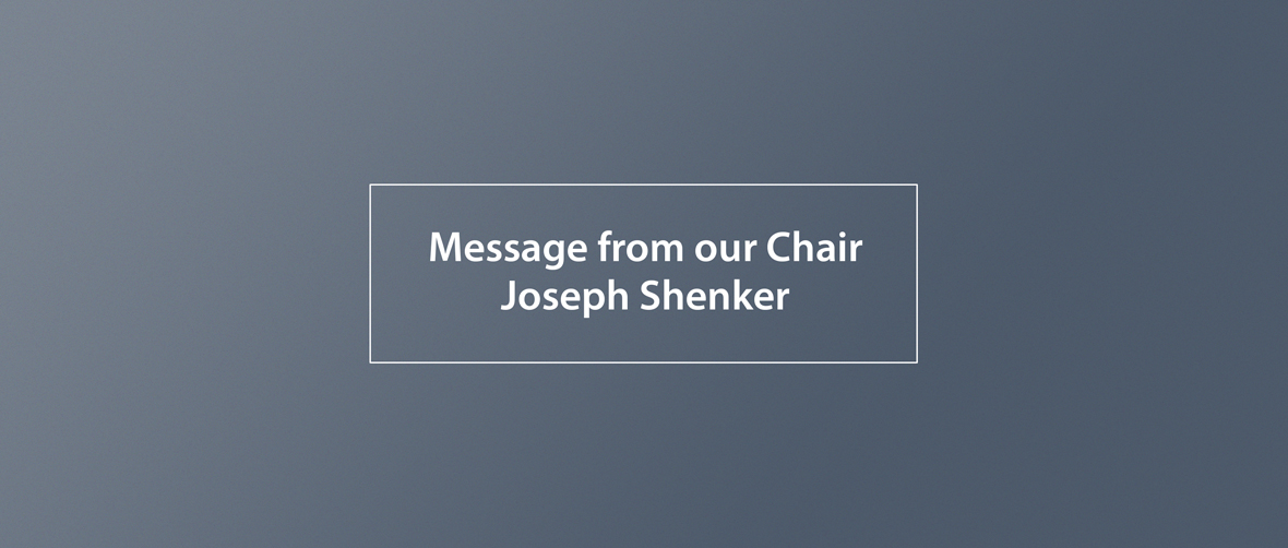 Message From the Chairman
