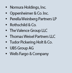 M&A Financial Advisory Clients 3