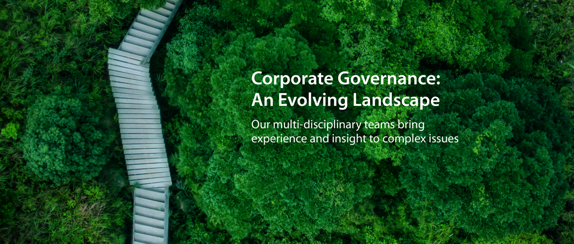 CORPORATE GOVERNANCE: AN EVOLVING LANDSCAPE